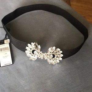 BCBG Maxazria elastic belt with embellishment